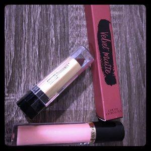 3 Lipglosses/ Lipsticks- New- Unused